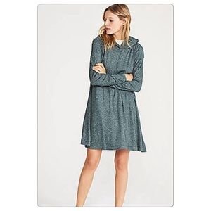 Lou & Grey Long Sleeve Hooded Dress Sz Large